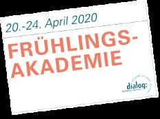 Banner Frühlingsakademie vom 20. bis 24. April 2020