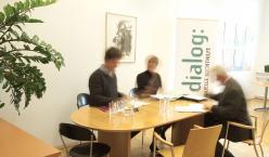 Besprechung in der Geschäftsführung des Verein Dialog