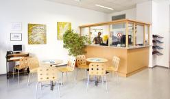 Wartebereich des Standorts Sucht und Beschäftigung